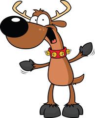 Cartoon Reindeer Excited
