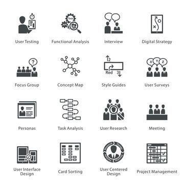 Web Usability & Accessibility Icons Set 1 - Noir Series