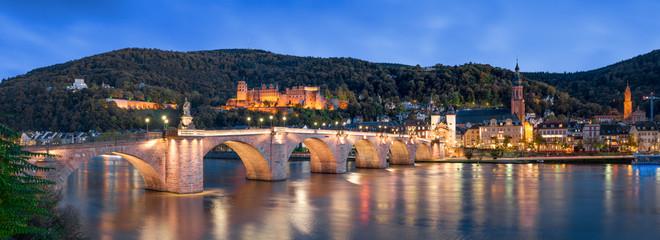 Fotomurales - Heidelberg Panorama Nachtaufnahme