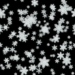 Snowfall generated texture
