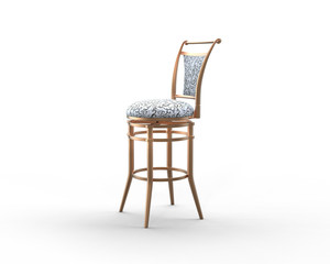 Coffee shop chair on white background.