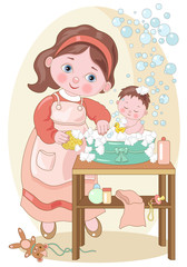 Small Characters- Baby Bath
