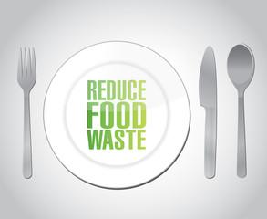reduce food waste concept illustration