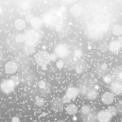 falling snow on the gray - vector image grey