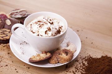 Kaffee mit Sahne
