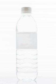 White water bottle isolated on white background