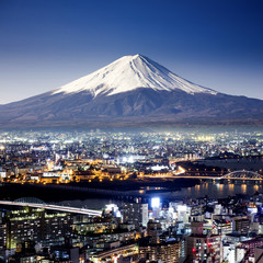 Printed kitchen splashbacks Tokyo Mount Fuji. Fujiyama. Aerial view with cityspace surreal shot. J