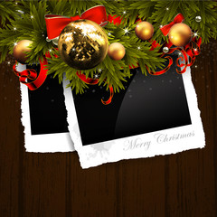 Christmas design with photo