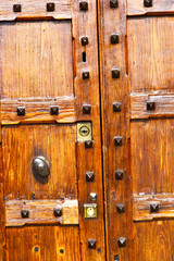 in legnano  rusty brass brown knocker a  door