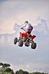 Fototapete - Freestyle Quad motocross