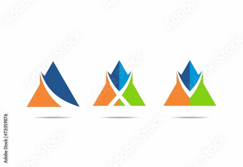 color finance tent loop abstract vector logo set  sc 1 st  Fotolia.com & color finance tent loop abstract vector logo set