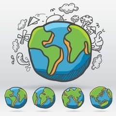 Earth Eco Vector