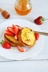 Breakfast - French toast and berries
