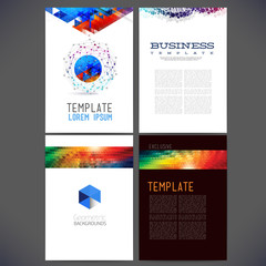 Abstract vector template design, brochure, Web sites,