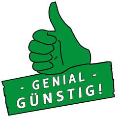 tus147 ThumbUpSign tus-v24 - Genial Günstig - türkis g2247