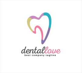 Abstract dental vector logo icon concept. Logotype template for