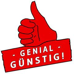 tus148 ThumbUpSign tus-v24 - Genial Günstig - rot g2248