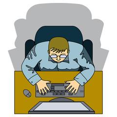 Человек и компьютер.