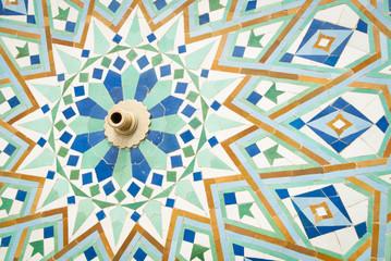detail of islam mosaic fountain