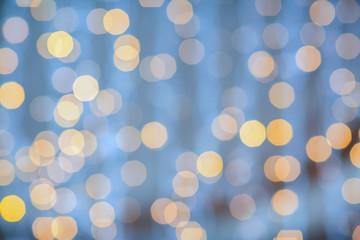 blurred glden lights background