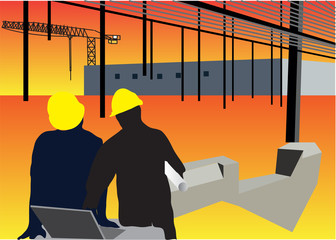 Construction site background