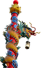 Chinese Dragon carrying a lamp