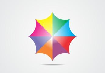 Umbrella colorful logo vector