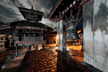 Old Durbar Square bell at Bhaktapur