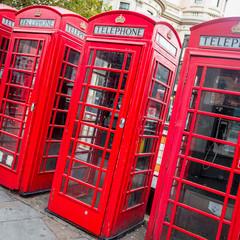 Cabine téléphonique à Londres