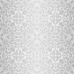 Silver baroque bright pattern