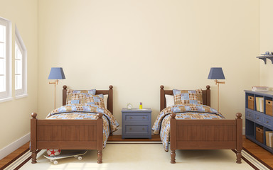 Bedroom for two children.