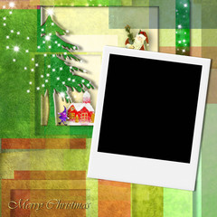 Merry Christmas Santa photo frame