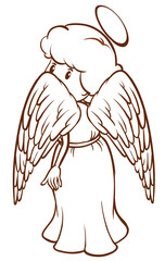 A plain sketch of an angel