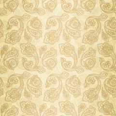 Turkish cucumber seamless pattern gold style