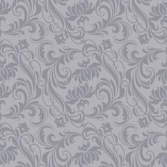 Gray baroque pattern