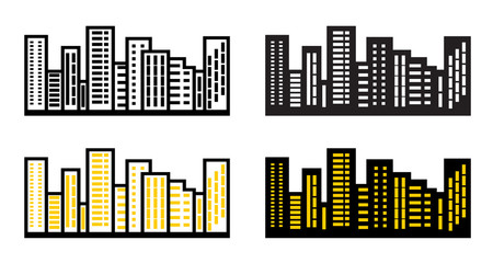 Silhouettes cityscapes.