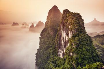 Karst Mountains of Xingping, China