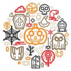Halloween icon Color Circle