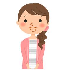 女性-笑顔