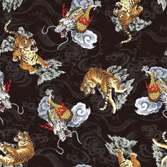 龍と虎のパターン