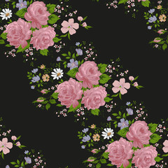 Roses patterns. Floral ,seamless pattern,vector