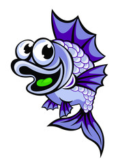 Funny violet fish