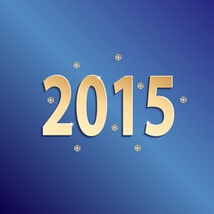 2015 happy new year blue paper design