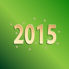 2015 happy new year green paper design