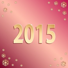 2015 happy new year red paper design