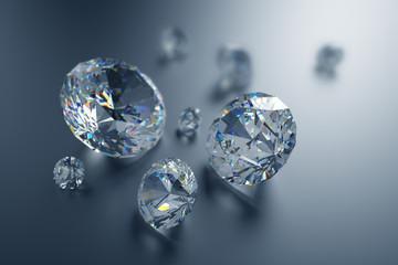 3d sparkling brilliants and diamonds background
