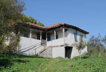Old abandoned house in Bulgarian countryside