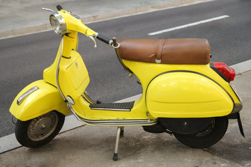 Yellow Retro Motorcycle