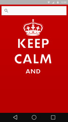 keep calm poster with crown into smart phone template