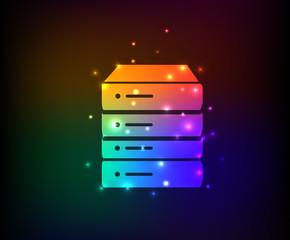 Database symbol,rainbow vector